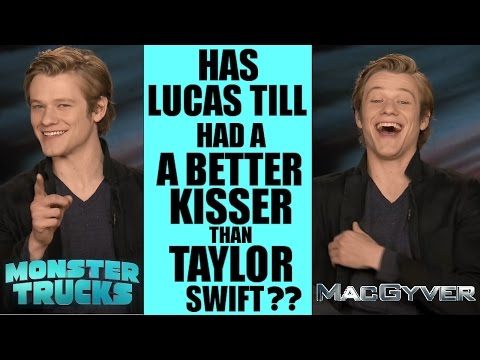 LUCAS TILL recalls TAYLOR SWIFT YOU BELONG WITH ME role in MONSTER TRUCKS and MACGYVER INTERVIEW