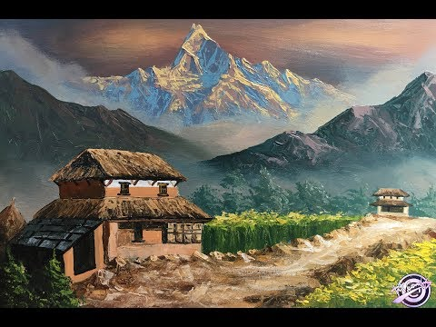 Nepali Village | Painting | Art Candy