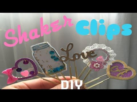 DIY planner shaker clips