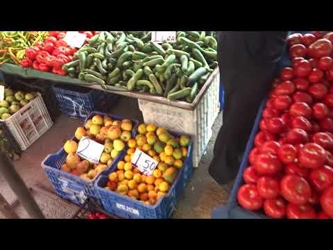 Цены на инжир персик клубнику Аланья рынок 24 октября 2019 Alanya Тосмур