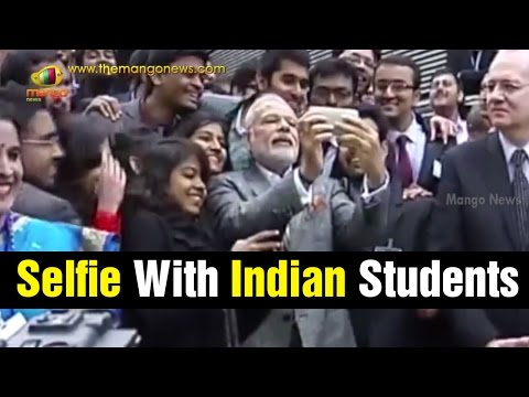PM Modi visits CNES space agency in Toulouse | Selfie with Indian Students