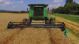 John Deere 9610 at work harvest 2017!