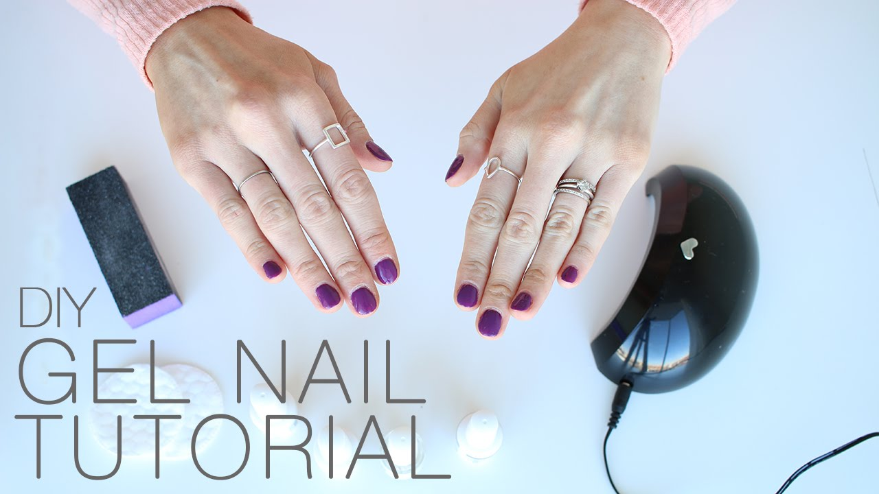 At-Home Gel Nail Tutorial + 70% off LED Light discount! - YouTube