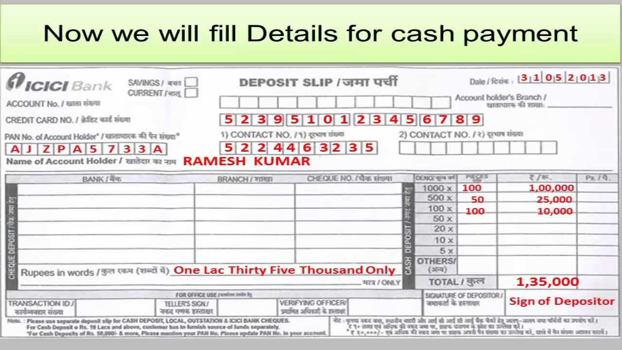 IN- How to fill Credit Card Payment of ICICI Bank - YouTube