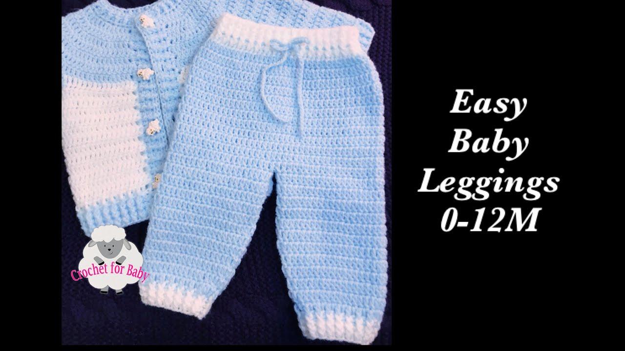 7959bb0545d5d LEFT Super easy baby leggings | trousers crochet set -boy/girl 0-12M -  Crochet for Baby #190