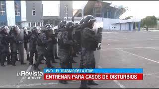 La UTOP entrena para casos de disturbios y enfrentamientos