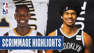 ... in their first nba scrimmage orlando, the new orleans pelicans defeated brooklyn nets, 99-68. b...