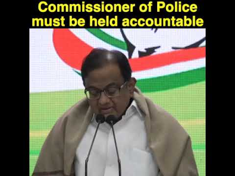 P Chidambaram addresses media on JNU Violence