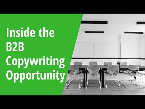 Inside the B2B Copywriting Opportunity