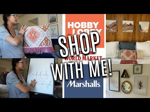 SHOP & Decorate with ME  HAUL  Making an UGLY Room CUTE- Hobby Lobby Marshalls