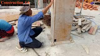 Cách đóng cốp pha trụ cho nhà cấp 4 village nhanh và chắc chắn I Construction 4.0