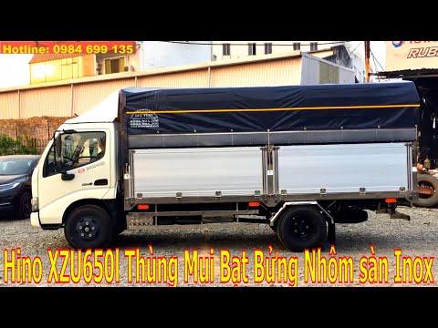 Khám phá xe tải Hino Xzu 650l 1.9 Tấn đời 2017 Thùng Mui Bạt Bửng Nhôm sàn inox 304
