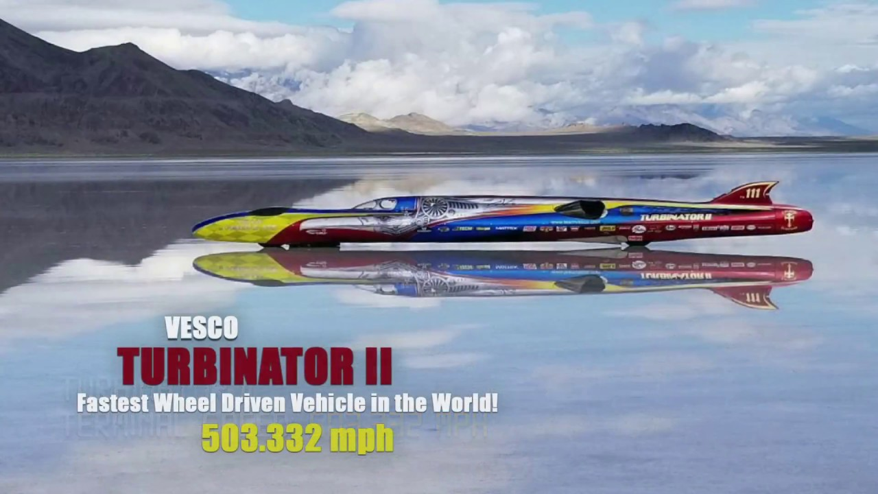 Team Vesco Turbinator II Bonneville Salt Flats 2018 Speed Record 503 MPH