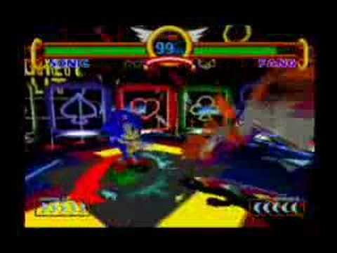 Sonic the Fighters - Moves Demonstration (Sonic)