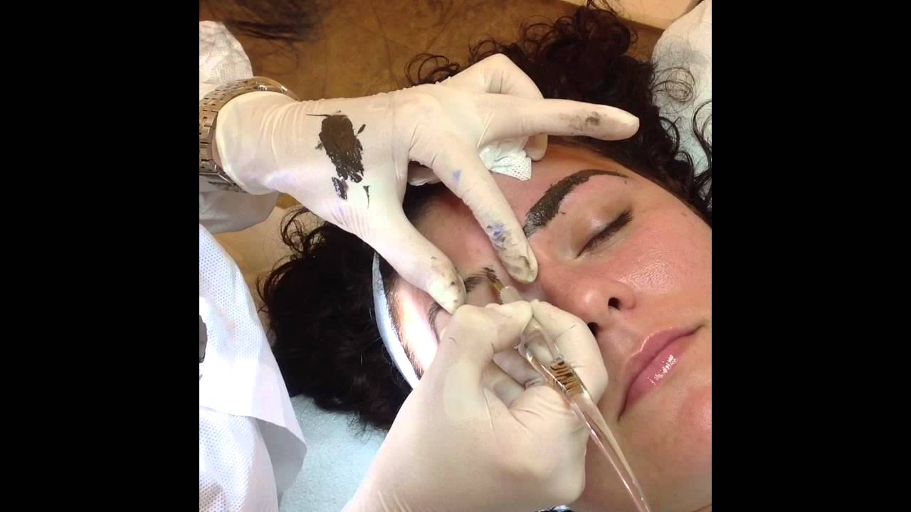 Eyebrows Embroidery By Esther Youtube