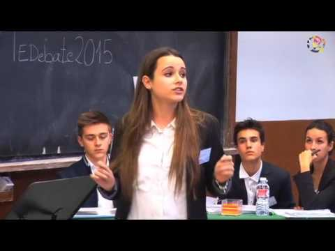 Final VI Torneo Escolar de Debate   Comunidad de Madrid 2015