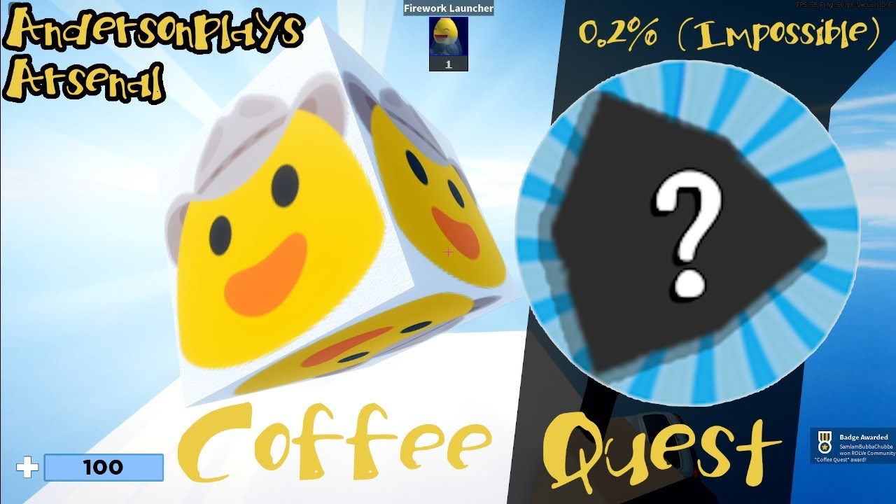 AndersonPlays Roblox Arsenal How to Get the Coffee Quest Badge