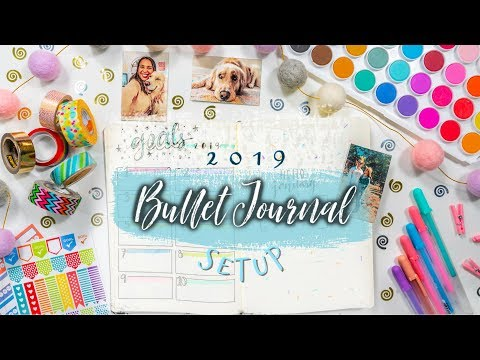 How To Bullet Journal for Beginners! 2019 Setup & DIY Easy Ideas for Maximum Productivity! thumbnail