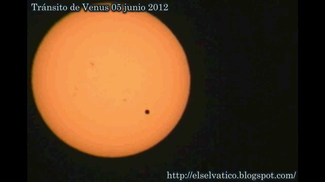 Trnsito de Venus 05 junio 2012 Eclipse de Venus  YouTube