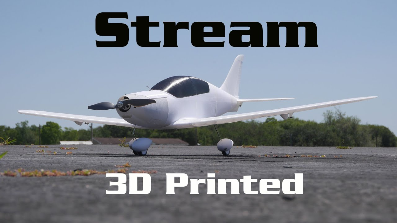 Download Eclipson TL Stream 3D Printed RC Plane - Plastic Fantastic   HobbyView