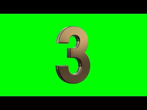 gold 3d numbers countdown in green screen free stock footage