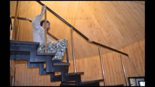 Лестница на металлическом каркасе(Проект ООО