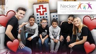 VISITE A L'HÔPITAL 🏥: ON RENCONTRE NOS ABONNÉS MALADES ! (hôpital Necker enfants malades)