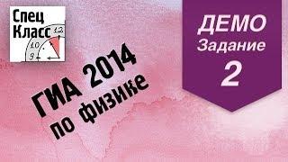 ГИА 2014 по физике. Задание 2 (демовариант) от bezbotvy