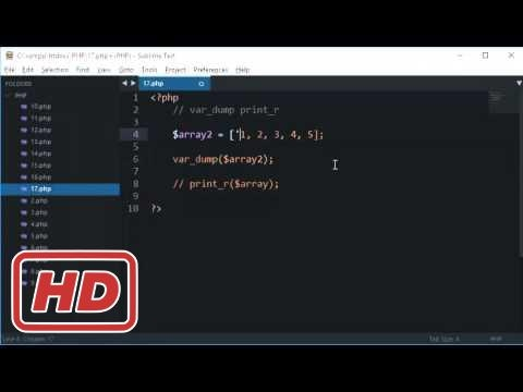 [PHP Tutorial for beginners] PHP Tutorial 17: var_dump and print_r