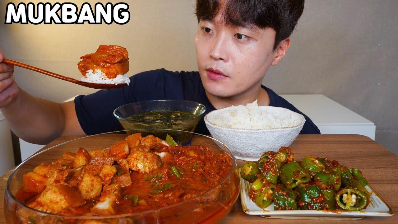 무조건 맛있는!!😋 돼지고기 김치찜 미역국 오이고추된장무침 먹방 Kimchi jjim & Seaweed Soup MUKBANG ASMR REAL SOUND EATING SHOW