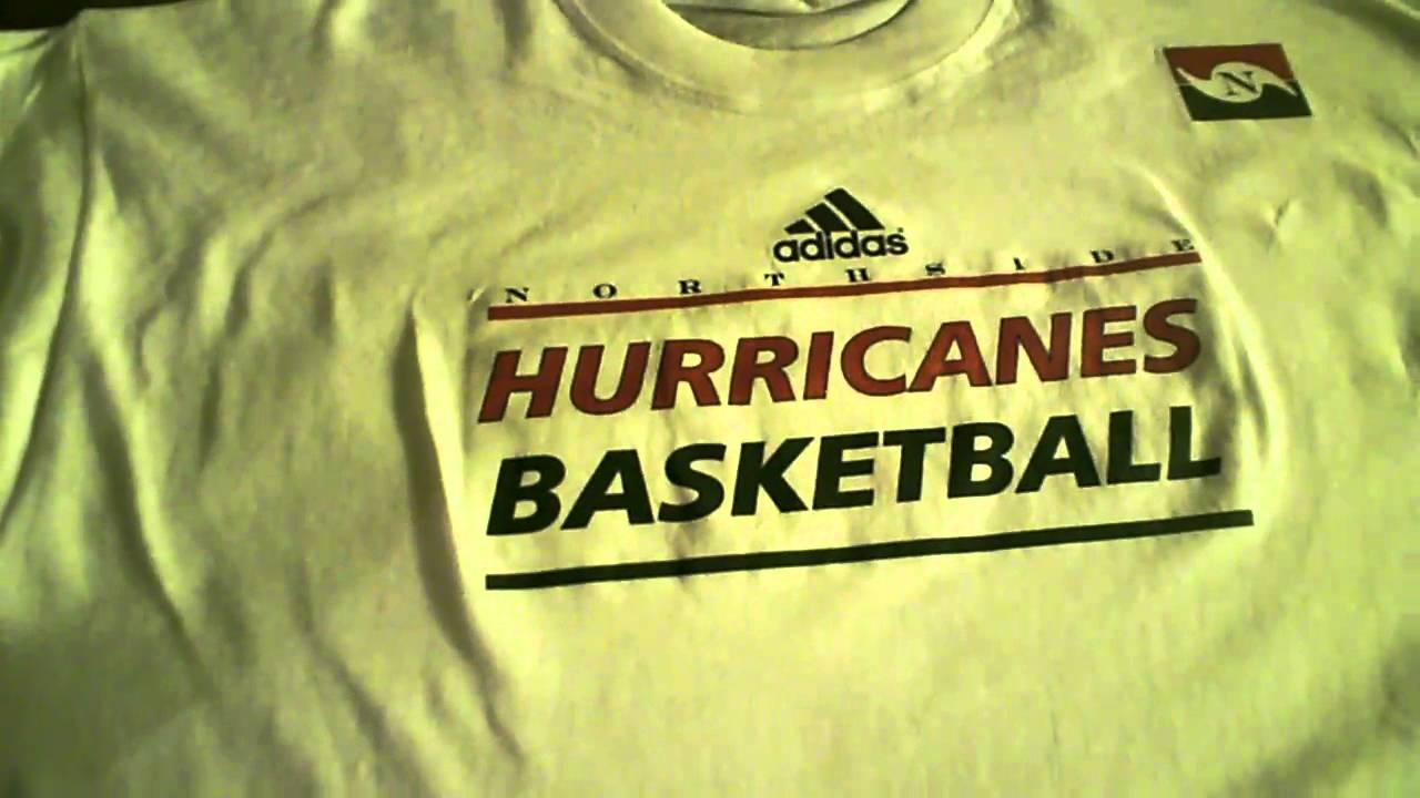 4d290aa7f8fd Northside Hurricans Basketball Tee shirt design - YouTube