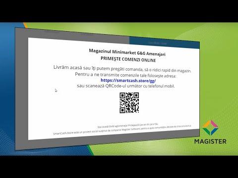 Listarea anunturilor pentru disponibilitatea comenzilor online prin SmartCash.Store