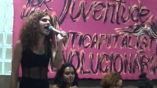 Virgínia Guitzel do Pão e Rosas no Lançamento da Faísca - AntiCapitalista e Revolucionário