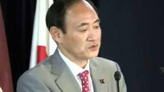 菅義偉組織運動本部長 記者会見(2012.1.13)