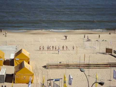 Paraguayan Girls Workout on Pocitos Beach in Montevideo, Uruguay