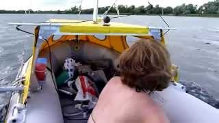 Intex Mariner With Sail And Cabin Diy Homemade Inflatable Sailboat Dinghy Schlauchboot