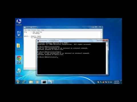 Introduction to Windows command line tools dig and whois