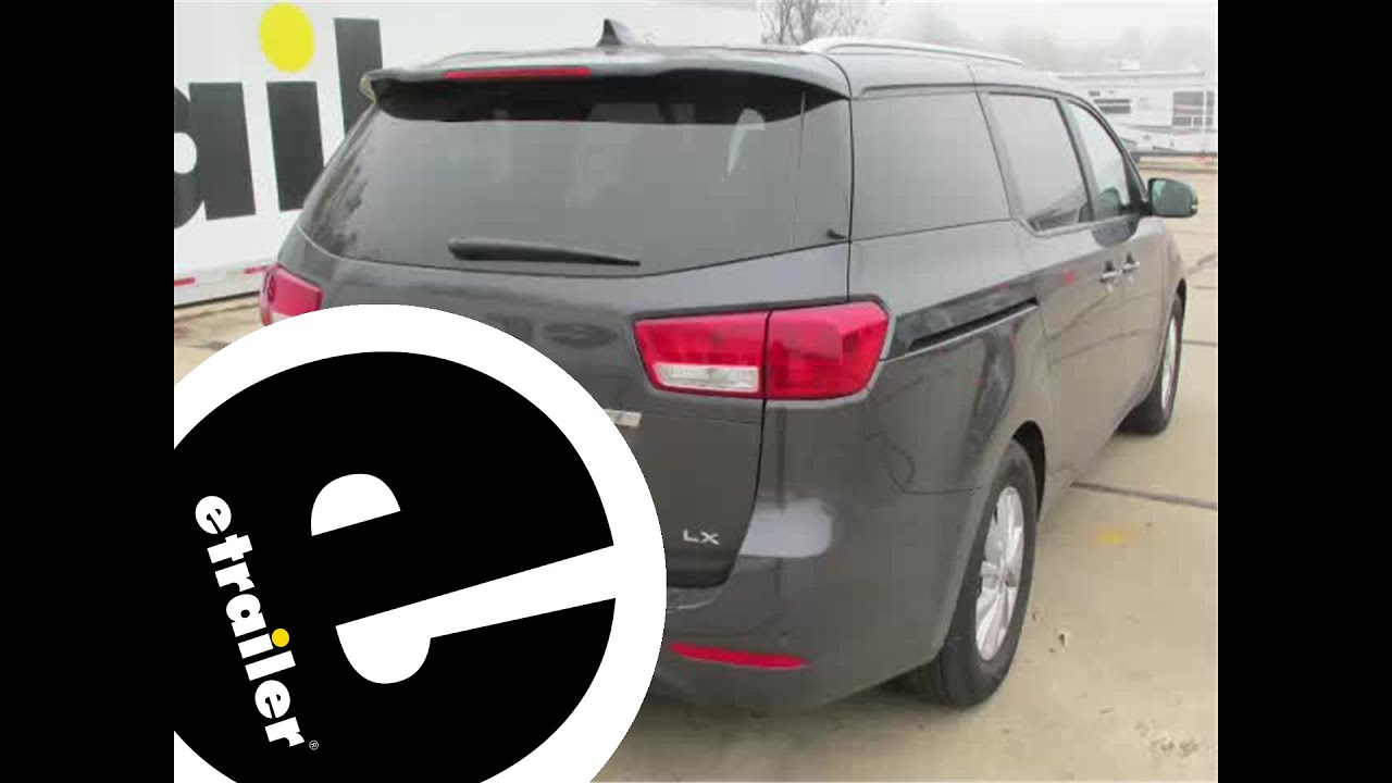 Installation of a Trailer Hitch on a 2016 Kia Sedona etrailercom