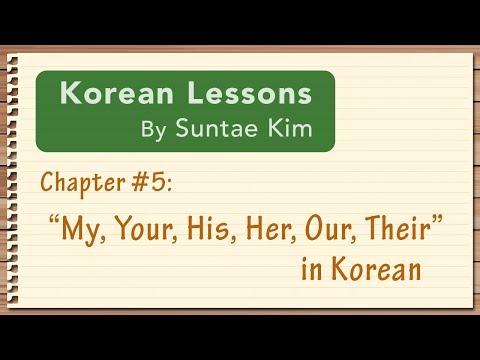 Korean Lessons by Suntae Kim - 05 Possessive Adj's and Pronouns