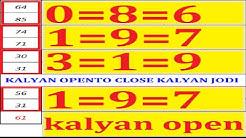 KALYAN MATKA 01-06-2020 KALYAN OPEN TO CLOSE KALYAN JODI मटका कल्यान जोडी चाल