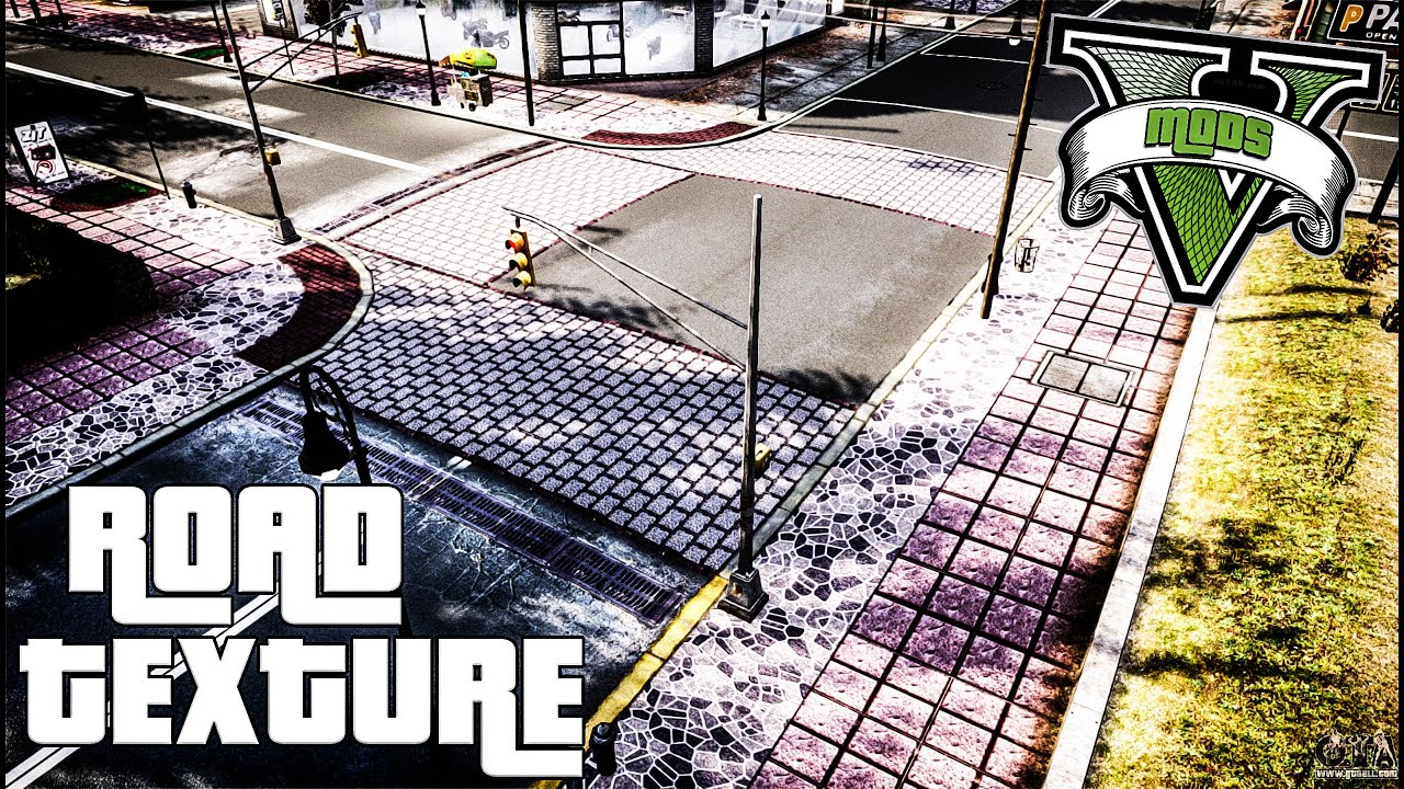 ROAD TEXTURE MOD / GTA 5 / LA ROADS (GRAND THEFT AUTO V)