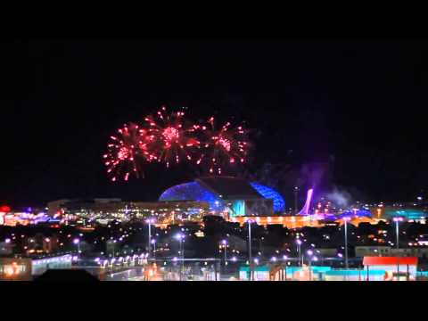 Sochi, Russia Winter Olympic 2014-Fireworks