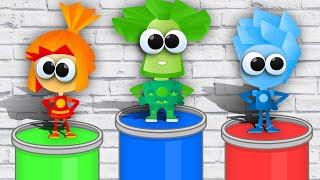 РАСКРАСКА. Раскрашиваем ФИКСИКОВ и Учим цвета - Видео для детей