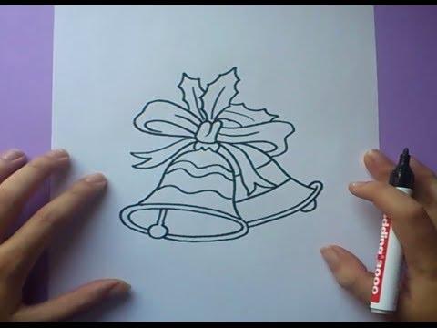 Worksheet. Como dibujar unas campanas de navidad paso a paso  How to draw