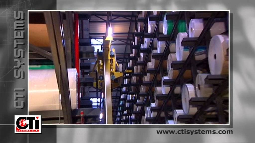 High Storage Warehouse And Agvs For The Label