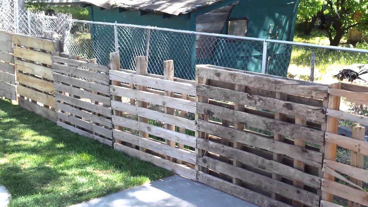 Wood Pallet Fence 0 To Make YouTube