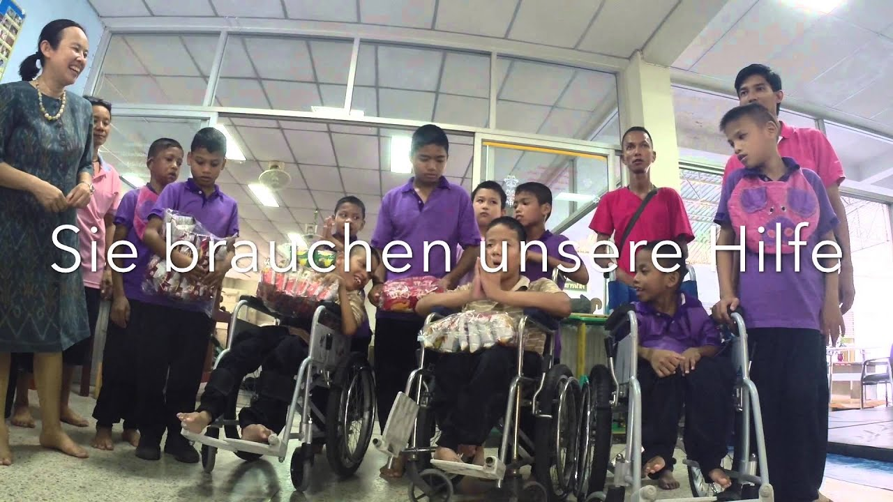 Thailand Kinder Briefe : Rehabilitation center für kinder mit behinderung in