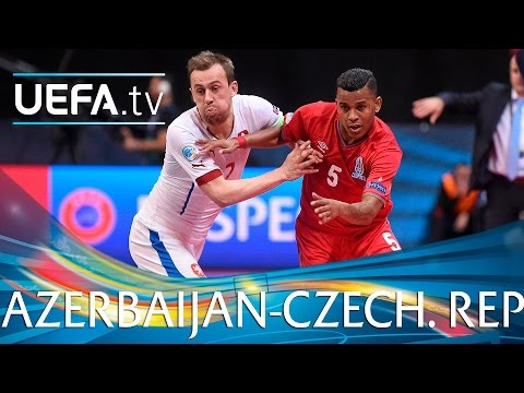 Futsal EURO Highlights: Azerbaijan 6-5 Czech Republic: watch 11 goals