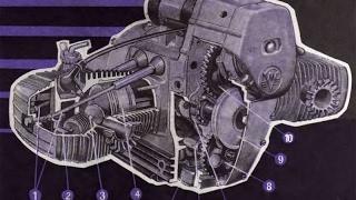 """Принцип работы оппозитного звигателя 3D (Пример двигателя мотоцикла """"Днепр"""")"""