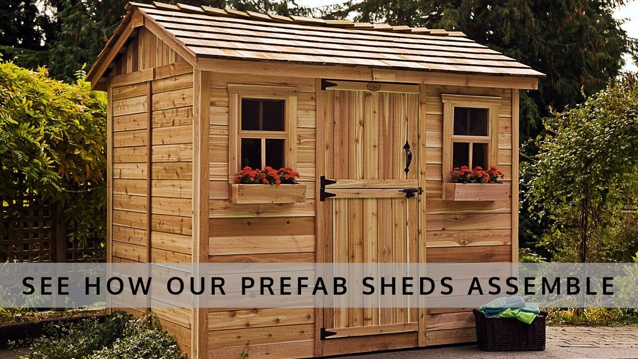 Prefab shed kits easy to install olt shed kits tool sheds